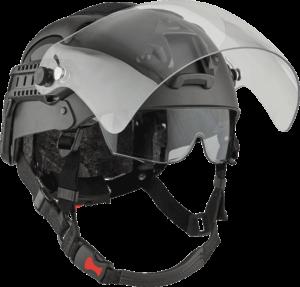 Manta_Tactical_Black_Helmet_Angle_Right_Visor_Up